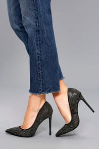 Suki Black Rhinestone Pumps at Lulus.com!