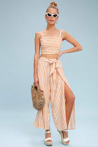 Faithfull the Brand Summer Nude Striped Culottes at Lulus.com!