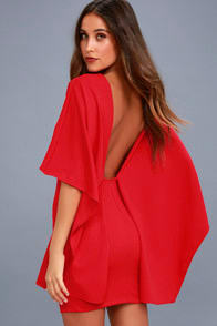 Best is Yet to Come Red Backless Dress at Lulus.com!