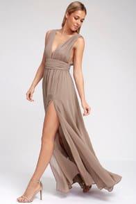 Heavenly Hues Taupe Maxi Dress at Lulus.com!