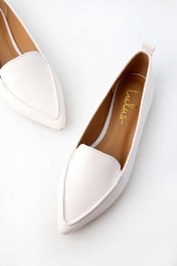 EMMY WHITE POINTED LOAFERS at Lulus.com!