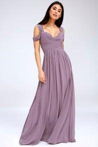 Make Me Move Dusty Purple Maxi Dress at Lulus.com!