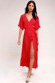 Lucy Love Enchanted Red Midi Dress at Lulus.com!