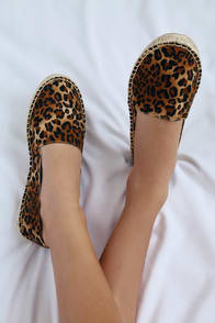 Marby Leopard Print Slip-On Espadrille Flats at Lulus.com!