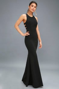 Power of Wow Black Backless Maxi Dress at Lulus.com!