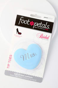 Tip Toes Mrs Blue Heart Ball of Foot Cushions at Lulus.com!