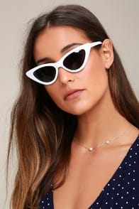 LYNX WHITE CAT-EYE SUNGLASSES at Lulus.com!