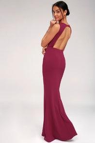 Mine Magenta Backless Maxi Dress at Lulus.com!