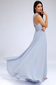 Magical Evening Periwinkle Blue Convertible Maxi Dress at Lulus.com!