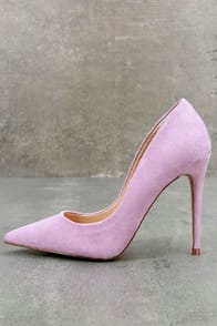 Daisie Lavender Suede Leather Pumps at Lulus.com!