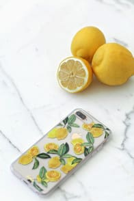 Lemon Zest Clear and Yellow 6s plus, 7 plus, and 8 plus case at Lulus.com!