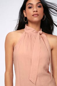 CATH BLUSH PINK SLEEVELESS TOP at Lulus.com!