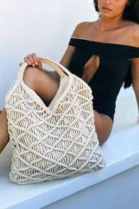 Andover Cream Woven Tote at Lulus.com!