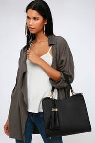 CALBIRA BLACK HANDBAG at Lulus.com!