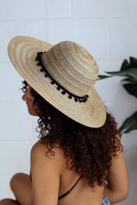 SPARKLING SANDS GOLD STRAW SUN HAT at Lulus.com!