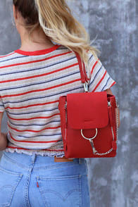 Sidewalk Stunner Red Backpack at Lulus.com!