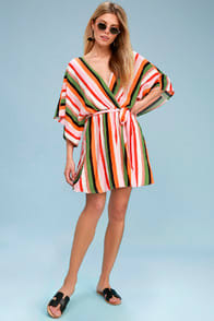 Leela Multi Striped Swim Cover-Up at Lulus.com!