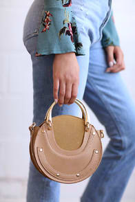 Tinley Nude Circle Purse at Lulus.com!