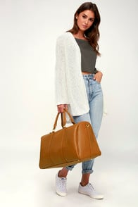 Stay the Night Brown Weekender Bag at Lulus.com!