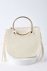 Rockport White Woven Mini Bag at Lulus.com!