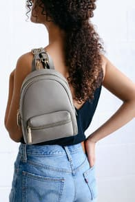 Leader of the Pack Grey Mini Backpack at Lulus.com!