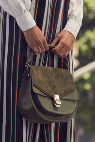 DAYANA OLIVE GREEN SUEDE LEATHER PURSE at Lulus.com!