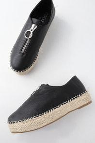Mighty Fine Black Flatform Espadrille Sneakers at Lulus.com!