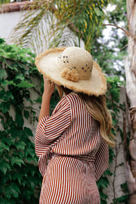 Rise and Sunshine Natural Floppy Straw Hat at Lulus.com!