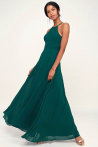 Night of Romance Emerald Green Sleeveless Maxi Dress at Lulus.com!