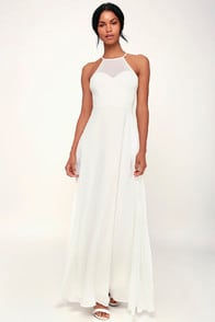 Night of Romance White Sleeveless Maxi Dress at Lulus.com!