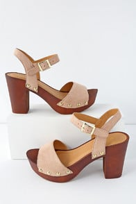 BROOKLYNN WARM TAUPE SUEDE PLATFORM SANDALS at Lulus.com!