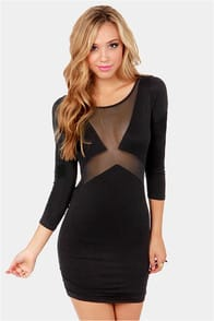 The Big Reveal Cutout Black Dress at Lulus.com!