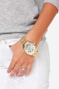Link Ahead Gold Watch at Lulus.com!