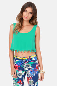 Crop Dead Gorgeous Teal Crop Top! at Lulus.com!