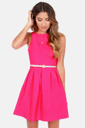 Diamond Ring: Pink Casual Dresses For Juniors
